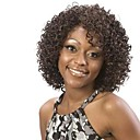 10inch Short Curly Brazilian Hair Lace Front Wig with None Bang