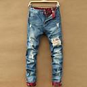 Men's Hole Design Long Jeans