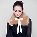 pels wraps faux fox wraps med bånd (flere farver)
