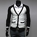Men's New Style Contrast Color Casual Long Sleeved Cardigans