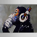 Oil Painting Modern Abstract Gorilla Hand Painted Canvas with Stretched Frame