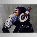 pittura a olio moderna mano gorilla tela astratta con telaio allungato dipinto