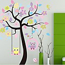 Environmental Removable Owls And Tree PVC Wall Sticker