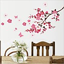 Environmental Removable Plum Blossom PVC Wall Sticker
