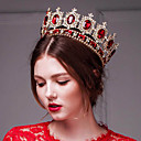 Baroque Luxurious Red Rhinestone/Titanium Tiaras With Wedding/Party Headpiece