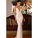 Women's Deep V Neckline Backless Sexy Evening Gown Dress