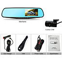 Car Mirrors DVR Camera Dual Lens 4.3 Inch Screen 120 Degree G-sensor Motion Detect Night Vison