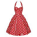 kvinnors vintage 1950-talet prom polka dot a-line grimma swing klänning