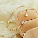 Women's Fashion Heart-shaped Love Rhinestone Cuff Bracelet