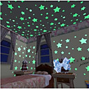 100pcs / set decalcomanie stelle luminose adesivi murali arte (3 cm)
