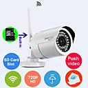 inbyggd 8GB tf-kort IP-kamera 720p wi-Fi Protected Setup vattentät dag natt trådlös