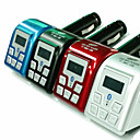 bluetooth mp3-spiller FM-sender med nummervisning handsfree (assorterte farger)