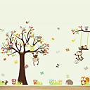 Wall Stickers Wall Decals, Large Animals Owls Tree PVC Wall Sticker
