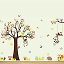 Wall Stickers Vægoverføringsbilleder, store dyr ugler træ pvc væg sticker