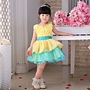 Flower Girl Dress - Stile Principessa Cocktail Senza Maniche Tulle