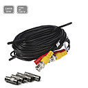 33FT(10M) CCTV Security Surveillance Camera Video Power Extension Cable Pre-made All-in-One BNC RCA Cable