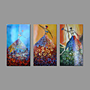 Hand-Painted Oil Painting on Canvas Wall Art Abstract Three Panel Dancer Nude Girls Ready to Hang