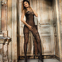Women's Seductive Floral Lace and Sheer Bodystocking Nightwear