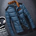 Men's Stand Coats & Jackets , Polyester / Viscose Long Sleeve Casual / Work Fashion Winter / Fall URUN
