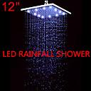 Douche pluie Contemporain LED / Effet pluie Acier inoxydable Nickel brossé