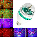 TI AU E27 3W Colorful Auto Rotating RGB LED Bulb Stage Light Party Lamp