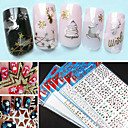 1Pcs New 3D Nail Art Decorations Decoration Metal Nail Decals Nail Art Sticker 7 Style Choosing
