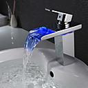 amerikansk standard Centerset enkelt håndtag et hul i krom håndvasken vandhane