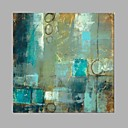 couleur bleue taille carrée peinture à l'huile à la main