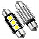 2 x CANbus geen fout 3 SMD LED interieur lamp licht 36mm