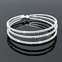 Armringar / Tennis Armband(Legering / Zircon,Silver) - tillBröllop / Party / Dagligen / Casual