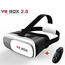 vr boks 2.0 versjon vr virtuell virkelighet 3D-briller for 3,5 til 6,0 tommers smarttelefon + bluetooth-kontrolleren