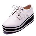 Women's Shoes Platform Square Toe Oxfords Dress / Casual Black / Red / White