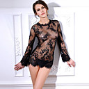 Women Sexy Transparent Lace Lingerie Nightwear,Lace / Polyester