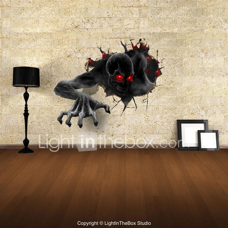3d vägg klistermärken väggdekaler, djävulen dekor vinyl ...