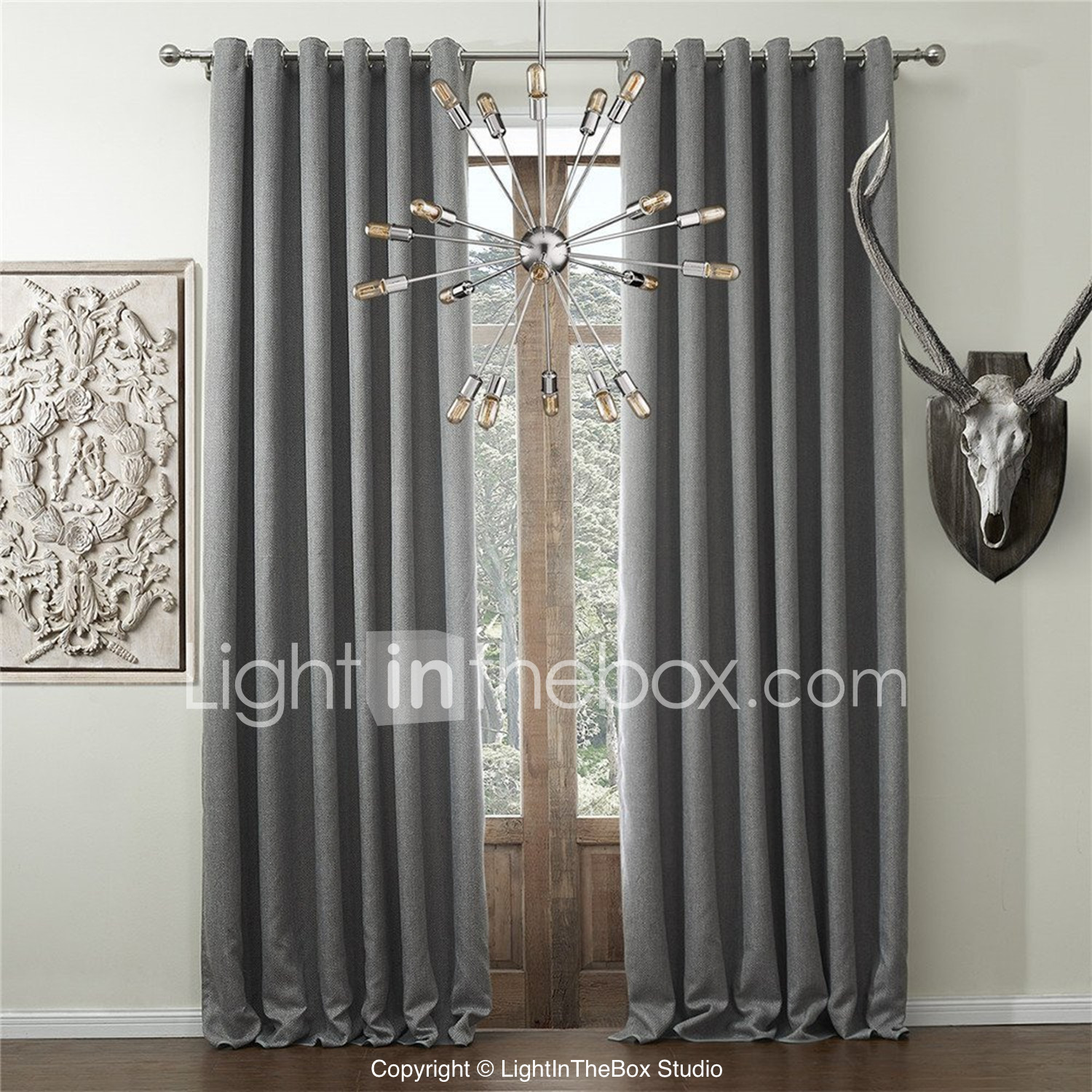 Brown plaid curtain panels - Chadmade Helmut Collection Polyester Faux Linen Waffle Woven Insulated Thermal Curtain Panel Drape