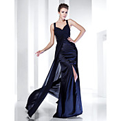 TS Couture® Formal Evening / Military Ball Dress - Dark Navy Plus Sizes / Petite Sheath/Column Straps Floor-length Chiffon / Satin