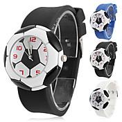 Infantil Relógio de Moda Quartzo Silicone Banda Desenhos Animados Preta Branco Azul