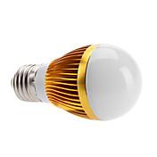 6W E26/E27 Bombillas LED de Globo 3 LED de Alta Potencia 500 lm Blanco Cálido AC 100-240 V