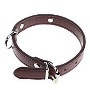 犬用品 カラー 調整可能/引き込み式 レッド / ブラック / ブルー / ブラウン PUレザー