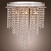 Max 10W Modern/Contemporary Crystal / Mini Style Electroplated Metal Flush Mount Living Room / Bedroom