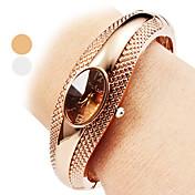 女性用 ファッションウォッチ ブレスレットウォッチ カジュアルウォッチ クォーツ 合金 バンド バングル エレガント腕時計 シルバー ブロンズ