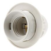 E27ベース電球ねじソケットランプホルダー(ホワイト)