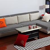 algodón de encaje blanco y negro cojín del sofá 90 * 150