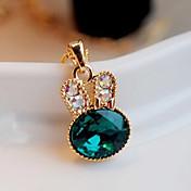 Mujer Collares con colgantes Cristal La imitación de diamante Legierung Moda Joyas Fiesta 1 pieza
