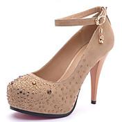 Moolecole Kvinders Cream Diamond Stiletto Heels