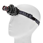 照明 ヘッドランプ LED 80lm ルーメン 3 モード 単四電池 焦点調整可 / 防水 / スマールサイズ / スーパーライト / 小型 日常使用 / サイクリング / 登山 / 旅行 / ワーキング プラスチック