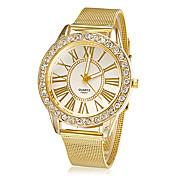 Mujer Reloj de Vestir Reloj de Moda Reloj de Pulsera La imitación de diamante Brillante Cuarzo Aleación Banda Destello Flor Dorado