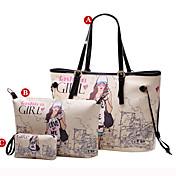 ESCODA Trendy Collage Art-Druck-Tasche (Handtasche, Umhängetasche, Handtasche)