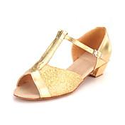 mujer brillante brillo superior y la danza niños zapatos estilo salón de baile latino zapatos más colores