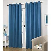 (dos paneles) moderna clásica sólida cortina de ahorro de energía